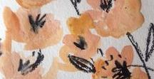 Flower patterns by Tina Christine / I enjoyed painting these lush garden illustrations and converting them into prints