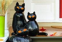 !**Halloween Ideas**! / Creepy, funny, and clever Halloween ideas! Pin articles, decorations, recipes, costumes, and more.  (FOLLOW my boards and email mulewagon@gmail.com with your username, and I'll send you an invitation.)