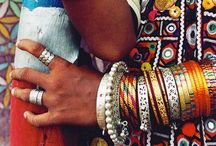 Bangles & Baubles / Two of my favorite things - An amazing pair of earrings and a stack of bangles.