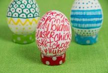 Easter Egg Decorating Ideas / Dip, dye, swirl, glue... there's never been more options and inspiration when it comes to Easter eggs.