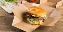 Fast Food & Bio Verpackungen / Unsere Fast Food Verpackungen sind perfekt für fettige, ölhaltige Speisen, wie Burger, Pommes, Wraps und Baguettes!