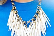 Style - Sparkly Jewels / Necklaces that Make The Outfit. // Tips for How To Wear Statement Necklaces: Keep other jewelry minimal   - Stack necklaces for statement effect  - Use one to spice up boring outfit  - Use one to freshen up an old outfit  / by Tiffany Style Blog