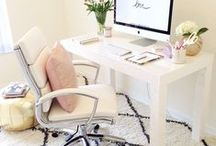 Home - Office Decor / Inspiration for a chic workspace.  / by Tiffany Style Blog