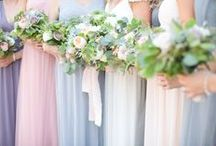 A&J • Bridesmaids / Color, style, and dress inspiration for your bridesmaids