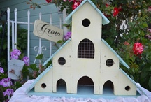 BIRD HOUSES and FEEDERS / ...with a few nest and bird baths too.