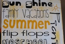 Summer Vacation Kids Ideas / Get your children excited about summer vacation, and keep them busy too! Here are our favorite crafts, decorations, games and inspiration that has to do with summer.
