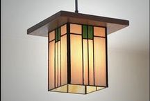 Prairie Style / Creator of the Prairie style, Frank Lloyd Wright not only designed homes and buildings in his signature style, but filled them with his own stained glass, furniture and fixtures to match. / by Delphi Glass