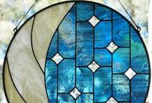 Breathtaking Blues / Art glass in blue creates a serene and peaceful aura. / by Delphi Glass