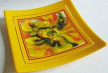 Exhilarating Yellow / Bright and cheerful yellow art glass enlivens the spirit. / by Delphi Glass