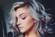 Hair: Shades of Gray / Hair Color: White - Silver - Gray - Grey - Titanium - Charcoal - Ash - Gunmetal - Chrome - Slate Type: Sombre - Ombre - Balayage - Highlights - Color Melt