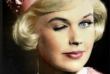 "Doris Day / Doris Day is an American actress, singer, and animal rights activist. Day began her career as a big band singer in 1939. Her popularity began to rise after her first hit recording ""Sentimental Journey"", in 1945 / by Rachel @ Retrogoddess"