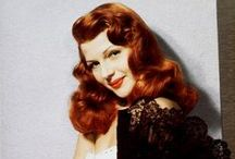Rita Hayworth / Rita Hayworth was an actress and dancer. She achieved fame during the 1940s as one of the era's top stars, and became known for her deep sultry voice and flaming red hair / by Rachel @ Retrogoddess