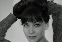 Anna Karina / Anna Karina is a Danish-French citizen, film actress, director, and screenwriter who has spent most of her working life in France. She is known as a muse of the director Jean-Luc Godard, one of the pioneers of the French New Wave. A style icon. retrogoddesses.com / by retrogoddesses.com