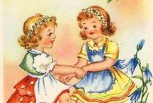 Vintage Girls (Illustrated) / by Rachel @ Retrogoddess