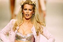 Claudia Schiffer / Claudia Schiffer is a German model and creative director of her own clothing label. Schiffer rose to popularity and became a household name during the early 1990s as one of the world's most successful models / by retrogoddesses.com