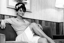 Claudia Cardinale / Claudia Cardinale is a Tunisian-born Italian actress of Sicilian parentage who appeared in some of the most prominent European films of the 1960s and 1970s.  retrogoddesses.com / by retrogoddesses.com