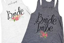 b a c h e l o r e t t e / Cute bachelorette tanks and T-shirts! You can choose one of our designs or you can reach out to us, and we'll help you create your own!