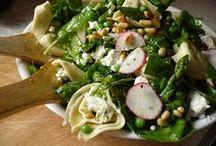food for spring / radishes. artichokes. asparagus. peas. strawberries. green onions. leeks. arugula. fennel. watercress. dandelion greens. rhubarb. apricots. carrots. morel mushrooms. spinach. fava beans. avocado. green garlic. kale. chard. baby lettuces. lamb. rabbit. tangerines. dungeness crab. clams. oysters. california halibut.  / by Devora Zauderer