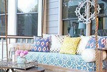 Porch Bliss / Porch bliss | porch decorating | porch ideas | porch decor | porch swing