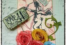 Terrific Tags / Handmade Tags to make- rubber stamped, scrapped, Jim Holtz style, clay and more. Tags to inspire.