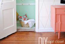 Closets / Closets | DIY closets | painting closets | closet makeover | closet ideas | closet organization