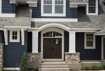 Exterior Colors / Wondering what color to paint the outside of your house? One of these pins can help you out.