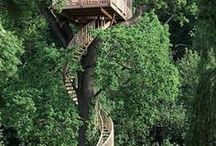 Treehouses / Treehouses | treehouse ideas | dream treehouse | treehouse kids