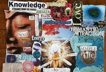 Invisioning / Vision and Action Boards to build yourself and your dreams upon,
