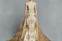 Coloured Bridal Gowns / Exquisite wedding dresses with a touch of colour.....