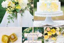 Yellow Weddings / Lemon, Mustard or Sunshine Yellow inspiration for a vintage inspired wedding.....