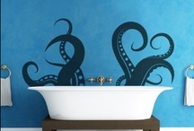 Jules Verne Themed Bathroom / I want to decorate my bathroom with submarines, tentacles and hot air balloons!