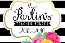 Teacher Organization / Classroom and teacher organization ideas! Teacher binders, forms for organization...keeping it ALL together and organized!