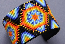 My beadwork / Beaded earrings, necklaces, pendants and bracelets. Ethnic, Native American and Boho style jewelry.  / by Anabel
