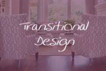 Style Guide: Transitional / Transitional design is about marrying the elements of classic design (symmetry, curved lines) with up-to-date finishes like espresso and brushed nickel. If you are torn between modern and traditional #interiordesign, transitional design might be right for you. / by Cymax