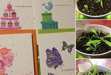 Eco-friendly Plantable Greeting Cards / Ecofriendly, Plantable Greeting Cards, Nature, Garden, Wildflowers, Herbs and Vegatables