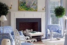 Room Color: Blue & White  / by Joanne Dimeff Interiors