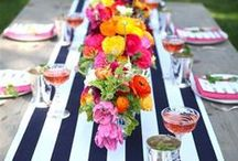Table Layouts and DIY Bars / Tablescapes and DIY bars