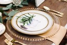 Dinner Party Tablescapes / Tablescapes and table settings for dinner parties