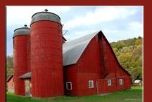 ye old barns ... / by Sandi White Thomas