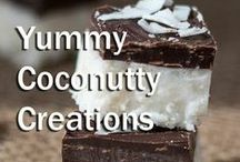 Yummy coconutty creations / The results of hours in the kitchen...delicious dishes -delectable and divine.  / by Dang Foods