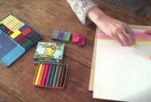 Waldorf Art / Waldorf-inspired art activities for children: painting, crayon drawing, and more.