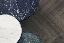 Materials. / Tiles, wallpaper, fixtures and finishes. All those material details.