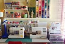 Sewing room ideas / Ideas for my sewing room plus inspiration for other fabulous sewing and crafting spaces.