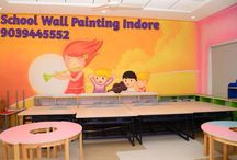 school wall Painting / Play School and kindergarten wall painting design and images