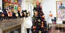 Halloween Ideas / Creative DIY wreaths, charming jack-o-lanterns, frightening trees, creepy vignettes for a spook-tacular Halloween celebration.