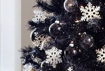 Not-so-basic BLACK / Charcoal. Midnight. Black Christmas Trees. Black Christmas decor. Why not? Once you go black... / by Treetopia Christmas Trees