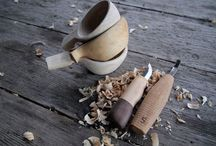 Carving / Carving is a great way to hone your knife skills and make wood containers in a pinch!