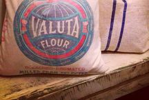 grain sack, linen & burlap... / by Andrea Duffy