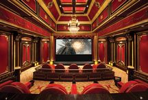 Home Theater / Home Theater, Media, & Cinema Room. Ideas For A Man Cave.  / by Wendy Tomoyasu