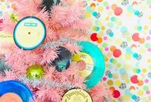 Tickled PINK / From hearts and pastels to Disney Princesses and Breakfast at Tiffany's, find pink-spiration from these pretty pink Christmas trees